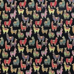 fabric with llama pattern
